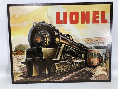 Lionel Train Tin Wall Panel